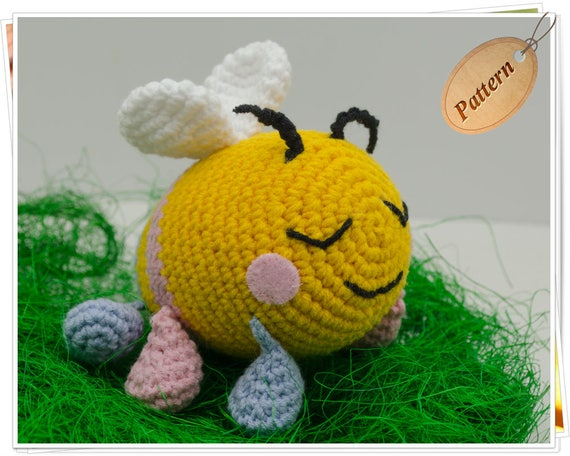Crochet Bee Pattern Amigurumi Bee Pattern Bee Stuffed Toy Tutorial
