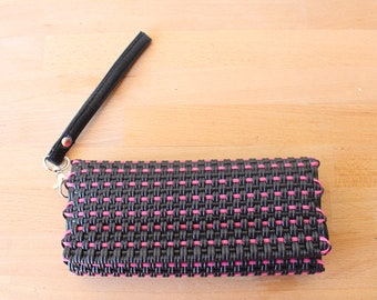 Black & Pink Mexican Plastic / Leather Wallet