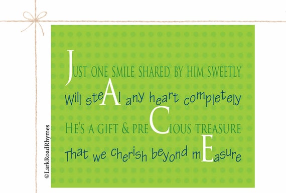 Personalized baby art little boy poem unique baby boy gifts like this item negle Choice Image