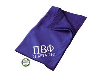 Pi Beta Phi Blanket, Sorority Throw Blanket, Pi Phi