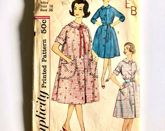 Vintage Sewing Pattern, Women's 50's/60's Simplicity 3712, Robes (M)