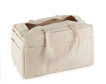 Riggers Bag | Sturdy 18 oz #8 Cotton Duck Canvas | 24 Outside Pockets | 1 Main Center Pocket | Used for Tools, Crafting Supplies and More