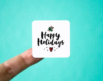 """Happy Holidays Stickers 