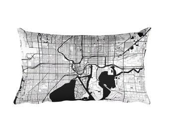 Tampa Pillow, Tampa Decor, Tampa Throw Pillow, Tampa Gift, Tampa Cushion, Tampa Map, Tampa Art, Tampa Florida, Tampa FL, Tampa Home, Cushion