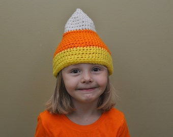 Crochet Candy Corn Hat- Halloween Hats- Candy Corn- All Sizes