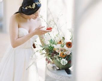 Crystal Headpiece, Braut Stirnband, Hochzeitsstirnband, Kristallstirnband, Kristall-Haar-Rebe, Braut Haar Weinstock, Braut Kopfschmuck - Stil-607