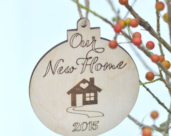 Our new home Christmas ornament- housewarming gift - gift under 10
