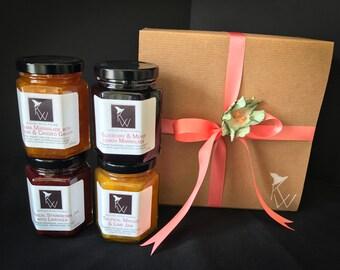 Gourmet Jam, Custom Gift Set, Teacher Gift, Mother's Day Gift, Gift for Hostess, Homemade Jam, Gift for Her, Gift for Coworker, GS4P1026