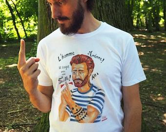 """T-shirts """"L'homme Moderne se coupe avec une feuille !"""""""