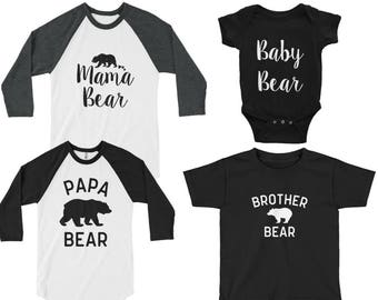 Family matching shirts - family matching, family matching bear shirts, family bear shirts, family bear, family matching shirt set