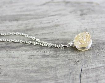Druzy, Statement Necklace, Necklace, Statement Necklaces, Necklaces For Women, Druzy Necklace, Gift For Friend, Pendant Necklace, For Friend