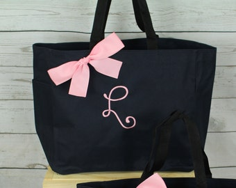 9 Personalized Bridesmaid Gift Tote Bags Personalized Tote, Bridesmaids Gift, Monogrammed Tote, Wedding Day Tote, Bridal Party Gifts