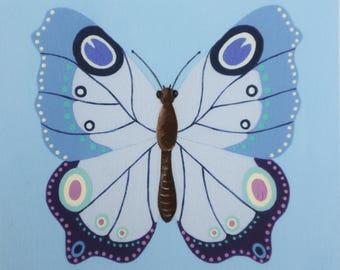 Blue Butterfly - Unframed Fine Art Print