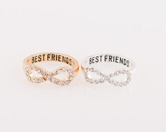 Best Friend Ring / Crystal Diamond Ring / Stackable Rings / Perfect Gift / Gift For Friend / Modern Jewelry