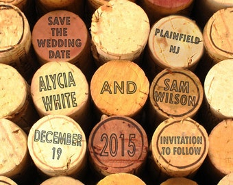 Personalized Wedding Gift, Wine Corks Save The Date Customized Names Dates Unique Photograph Invitation Photo Printable Digital File pp22