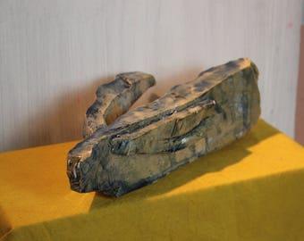 Clod Bird Stoneware sculpture porcelain face
