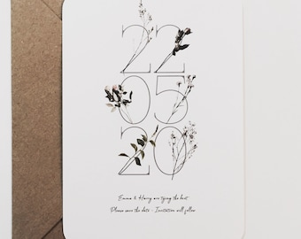 Wild Flower Wedding Save The Date Botanical Rustic Simple