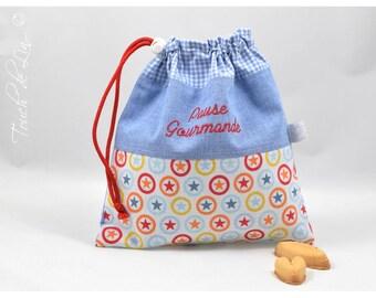 "CUSTOM pouch to taste ""gourmet break""."
