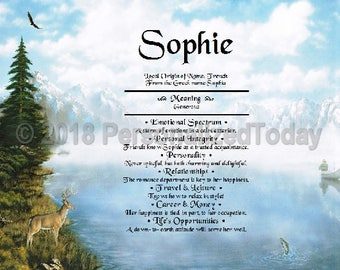 Outdoors Name Meaning Origin Print Name Personalized Certificate 8.5 x 11 Custom Name Mountain Majesty PT Personalized Today Lake Fishing