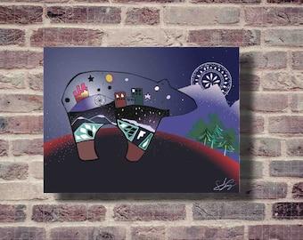Night Bear Digital Print