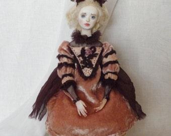 OOAK Art doll Boudoir doll Manyasha