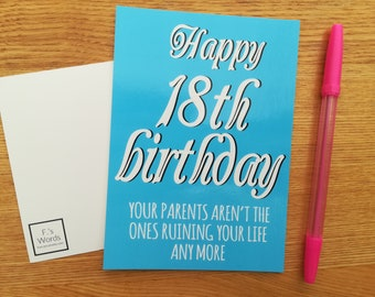 18th Birthday Gift | Happy Birthday Funny Joke Present | Postcard Card 18th Birthday