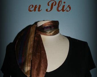 Retro scarf Les Petites Lyons - Bronze