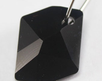2 pcs Swarovski Crystal 6680 Cosmic Pendant CRYSTAL JET BLACK 14mm or 20mm