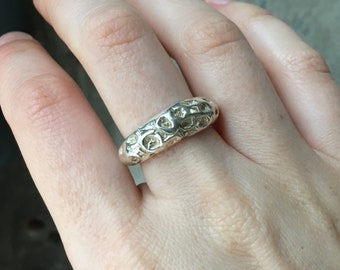 Handmade Octopus Squid Tentacle Wrap Sterling Silver Ring Approximate Size 7.75