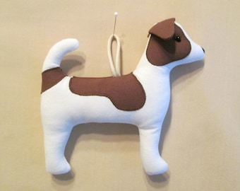 Fabric Jack Russell Terrier Dog keychain, ornament, accessory