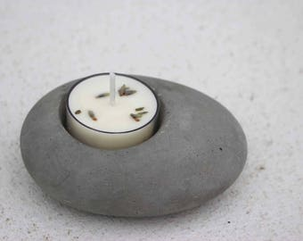 Pebble Tealight Holder & 6 Tealights