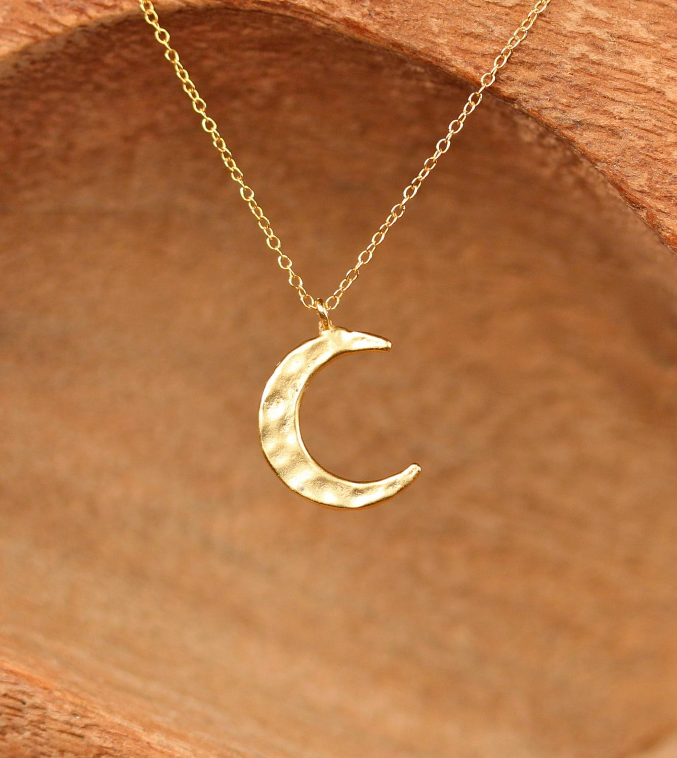 gold silver p metal necklace circle hammered