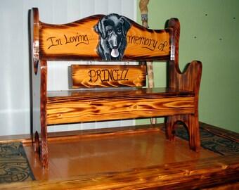 Kid size Pet memorial bench