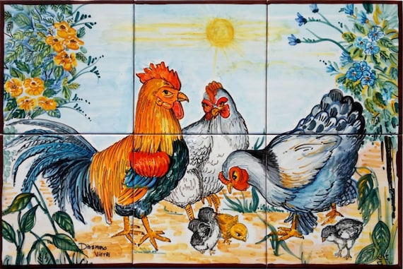 Comfortable 12X12 Tin Ceiling Tiles Thin 24 X 48 Ceiling Tiles Square 2X4 Suspended Ceiling Tiles 2X4 Tin Ceiling Tiles Young 3D Ceramic Wall Tiles Red6 X 6 Tiles Ceramic Hand Painted Ceramic Tiles Ceramic Rooster Chicken Art
