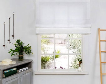 White Roman Blind - Roman Blind - Roman Shade-Hardware is Included- Made to Measure Roman Blind- Custom Roman Blind.