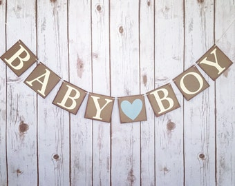 BABY BOY banner, its a boy banner, it's a boy banner, baby boy sign, gender reveal banner, baby shower banner, baby shower decorations