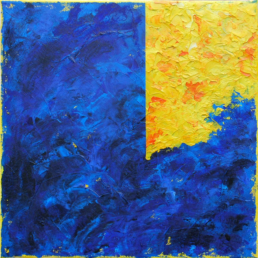 Original Abstract Contemporary Oil Painting Modern Textured