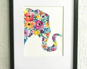 Elephant Watercolor - Print