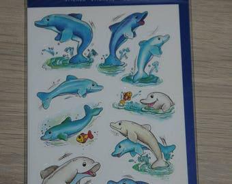 """three planks stickers themes """"dolphins"""""""