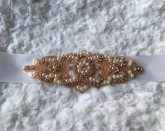 SALE BRIDAL SASH, Rose gold Bridal sash, Bridal crystal belt, Rhinestone belt Bridal sash Wedding sash/belt Bridesmaid belt Dress Sash/Belt