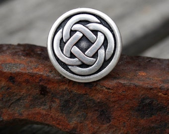 Tie Tack - Lapel Pin - Silver Celtic Knot