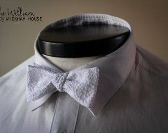 The William - Our wedding bowtie in white