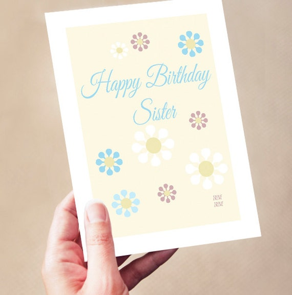Happy birthday sister simple birthday card for sister step like this item bookmarktalkfo Images