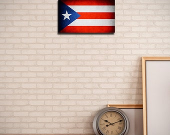 Puerto Rico Canvas Flag