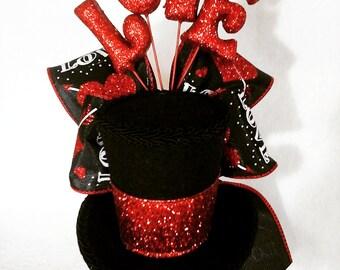 Valentine's  day   mini top hat fascinator costume accessorie