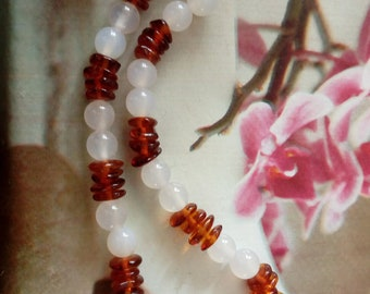 Energy amber baby necklace