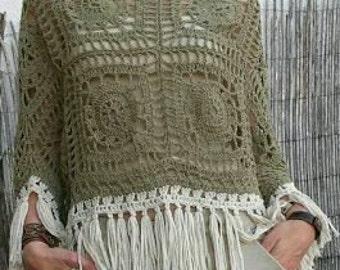 Crochet Poncho Top
