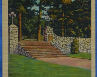 William Bond Memorial Gateway Massanetta Springs Harrisonburg Virginia Linen Postcard