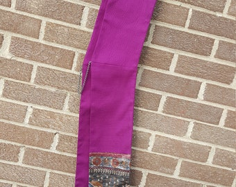 Purple deacon stole: purple with metallic accent fabric for diaconal minister, deacon or clergy
