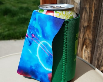 Professional Rager Caped Can Cooler with Handmade Laser Cat Capes